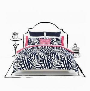 Kate Spade palms comforter set F/Q